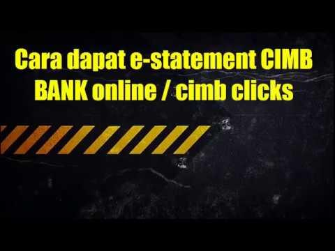 cara cetak e-statement atau penyata cimb bank online 2017