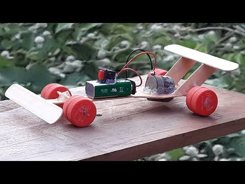 How to make F1 Car from DC motor at Home - Amazing Electric Car DIY
