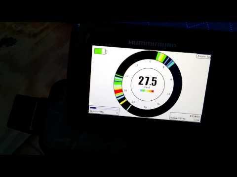 Humminbird Helix 5 DI GPS in Ice fishing Mode