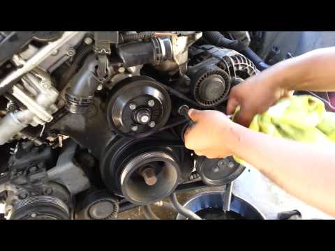 01-05 BMW Serpentine And AC Belt Removal 530 525i 330 325