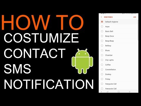 How to change SMS sound notification for specific contact on android