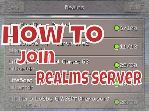 How to join REALMS servers !  - Minecraft Pocket Edition