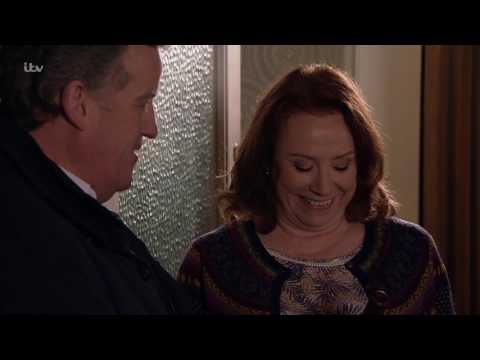 Coronation Street - Brian Gives Cathy a Bottle of Wine to Say Thank You