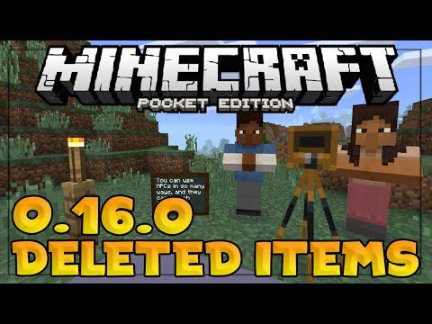 DELETED MINECRAFT PE 0.16.0 ITEMS!!! - Minecraft Education Edition?! - Minecraft PE (Pocket Edition)