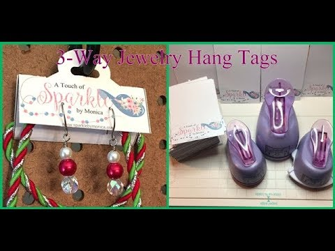 Branding Tutorial for your Jewelry Packaging: DIY Folding Jewelry Hang Tags and Easy Earring Cards