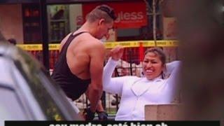 En nuestro experimento urbano de hoy, descubrimos que las mujeres peruanas, al igual que los hombres, miran mucho. Esto sucede cuando tienen a un hombre atlético cerca suyo.