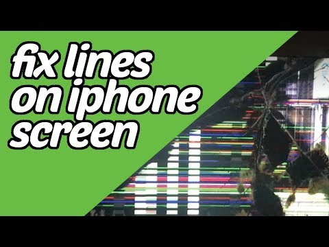 iphone screen has lines through it - solution