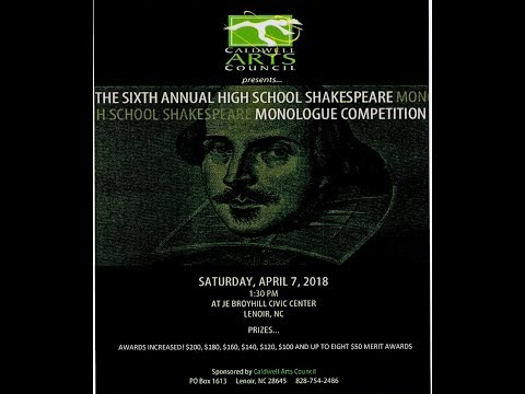 Sixth Annual Shakespeare Competition, 2018