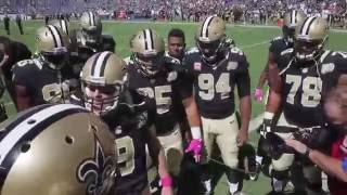 Drew Brees Gets Emotional During His Chant Before The Chargers Game
