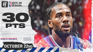 Kawhi Leonard DESTROYS LeBron & Lakers Full Highlights (2019.10.22) - 30 Pts, 6 Reb, 5 Ast!