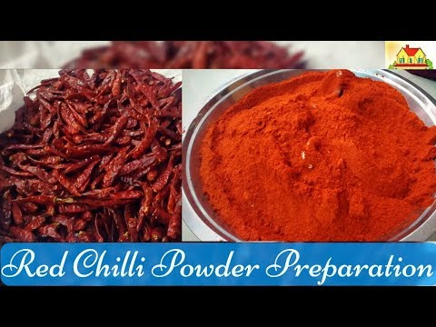 Red Chilli Powder preparation | Karam tayari vidhanam | కారం తయారీ విదానం