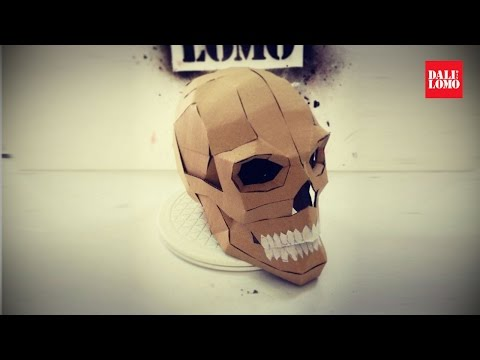DIY Human Skull - Cardboard Prop How to #108