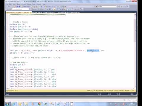 SQL Server - Server side trace