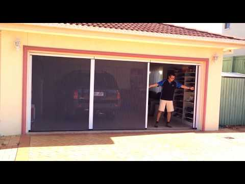 Double Garage Door Fly Screen (Hiss Barrier-free system)