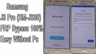 Bypass Frp google account samsung j3 pro (j3 2017) oreo 8 0