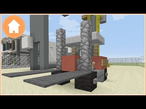 Minecraft Tutorial: How to Build a ForkLift in Minecraft
