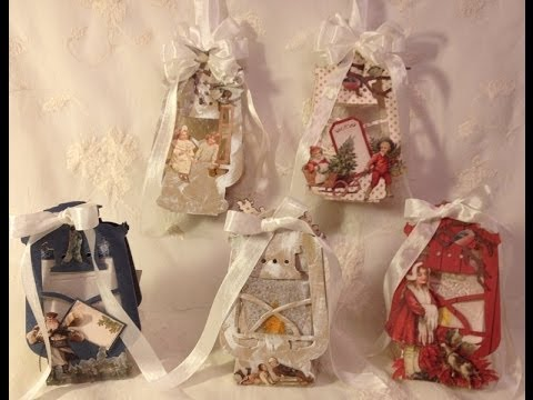 How to make Tim Holtz Rustic lantern Christmas gift and light boxes Tutorial