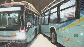 Widespread Issues Reported With MTA Buses Due To Snowstorm