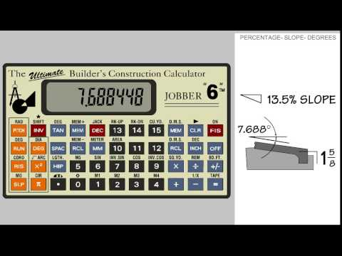 Jobber 6 Construction Calculator - Percentage, slopes and degrees