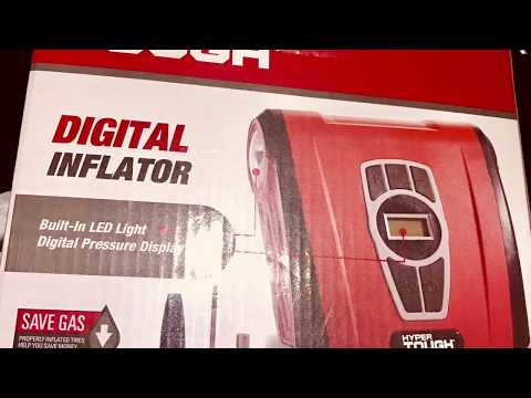 How to inflate a flat tire on your car with a digital inflator