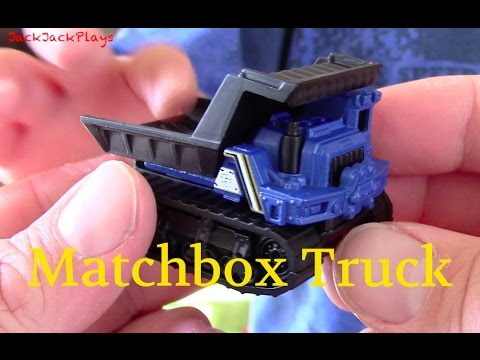 Matchbox Truck Unboxing Play | MBX Construction Trail Tipper | JackJackPlays