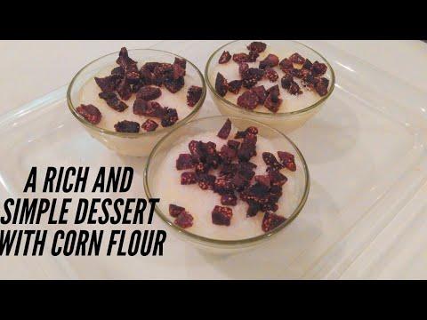 Corn Flour Milk Pudding (Mahalabiya) - Soft Diet, simple and easy to prepare