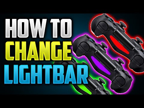 How To Change The LIGHT BAR Color On Your PS4 Controller!(EASY)