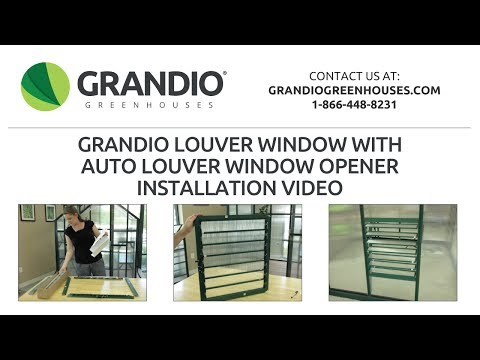 2017 Grandio Louver Window With Auto Louver Opener Assembly Video With Left Side Handle