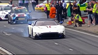 Aston Martin Vulcan on the Streets! - EPIC FULL THROTTLE BURNOUTS & SOUNDS!