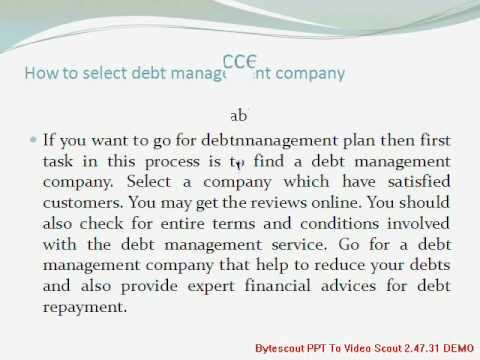 Debt Management Plan and It's Benefits