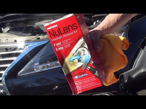 How to clean and restore your headlight back to new using Mother's Headlight Nulens Kit