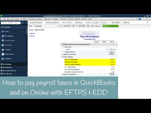How to pay Payroll Taxes through QuickBooks