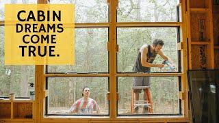 Window Wall & Cedar Siding - Cabin Build Ep.32