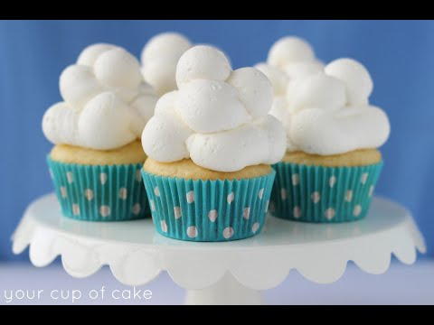 Cloud Cupcakes: piping cupcakes how to