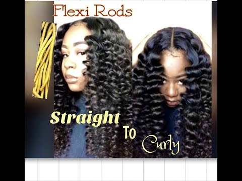 Straight To Curly Using Flexi Rods