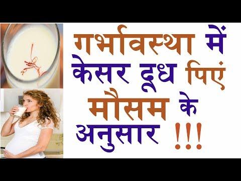 गर्भावस्था में  केसर दूध कब और कैसे पिएं ( in HINDI ) || Kesar milk, Saffron milk during pregnancy