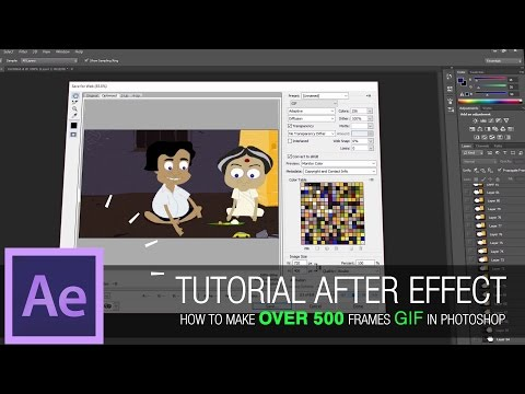 After Effects Tutorial - How to create over 500 frames GIF in photoshop - Animated GIF