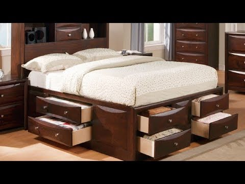 King Size Platform Storage Bed With Drawers