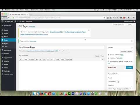 Mod - Home Page Slider Setup