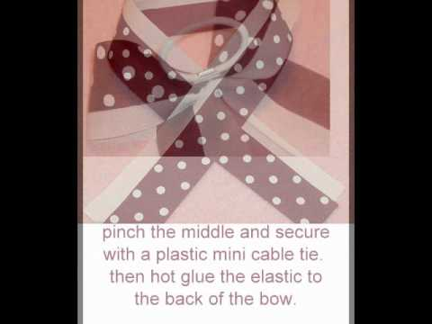 How to make your own cheer bow.  Cheerleading!