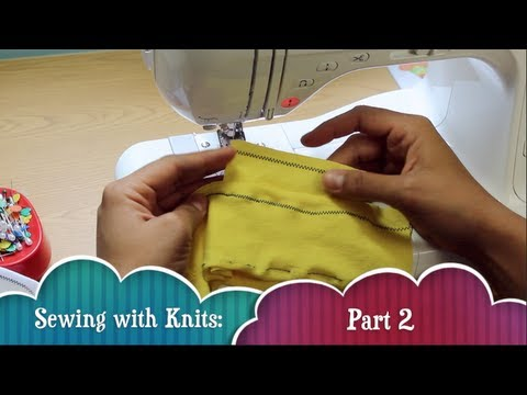 Sewing with Stretch Knit Fabric- Part 2