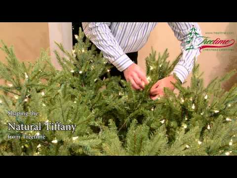 How to Shape Your Artificial Christmas Tree - The Natural Tiffany Fir