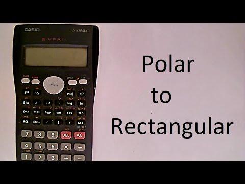 Polar to Rectangular Coordinates using scientific calculator