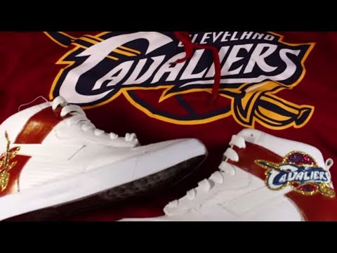 Custom Shoes Cleveland Cavaliers Glitter Shoes