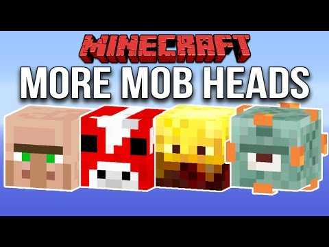 Minecraft 1.11 More Mob Heads (Custom Loot Tables)