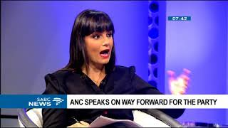 ANC speaks on way forward for the party Part 2