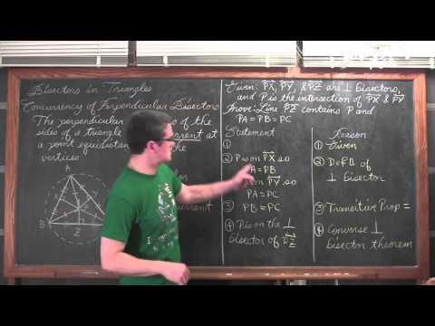 Triangle Perpendicular Bisectors & Circumcenter