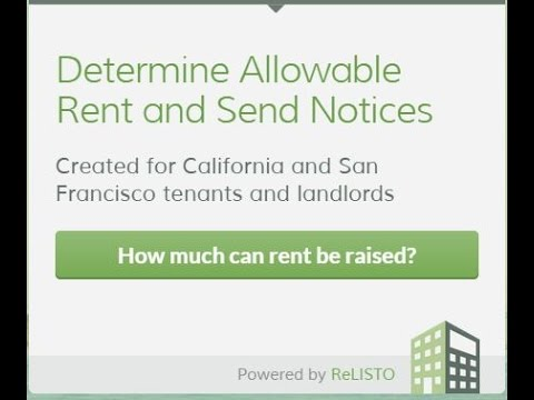 SF Rent Board Fact Sheet 7- Example # 1 Calculate Using the San Francisco Rental Calculator