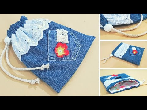 Diy gift bag | Mother's day | Simple drawstring bag sewing tutorial | For beginner ❤❤