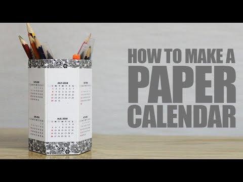 How to make a paper Calendar - Pencil Holder